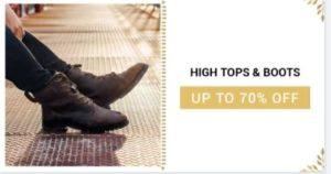Footwear Deal – Men's High Tops & Boots Savedealsindia
