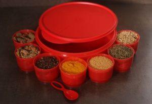 Tupperware, plastic spice container